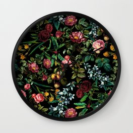 Floral Jungle Wall Clock