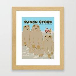 The Ranch Store Framed Art Print
