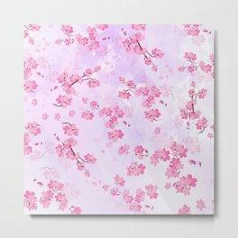 Cherry Flower Metal Print
