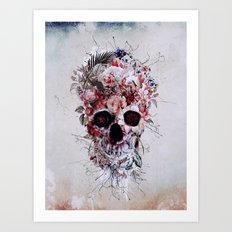 Floral Skull RPE Art Print