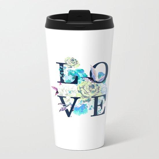 Love flowers Metal Travel Mug