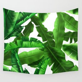 tropical banana leaves pattern Wall Tapestry
