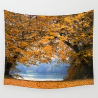 denmark Wall Tapestries featuring Autumn in Denmark by by Henrik Wulff Petersen (zoomphoto)