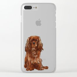 Cavalier King Charles Spaniel - Ruby Clear iPhone Case