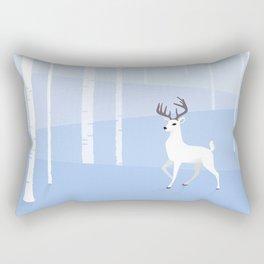 Reindeer and Birch Rectangular Pillow