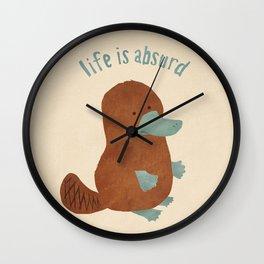 Platypi Don't Lie Wall Clock