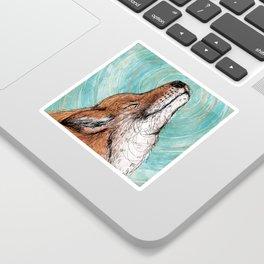 The Happiest Fox Sticker