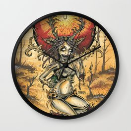 Zombie Jagger Girl Wall Clock