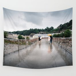 Padlock bridge in Salzburg Wall Tapestry