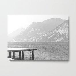 Swimming at lake Garda Italy Metal Print