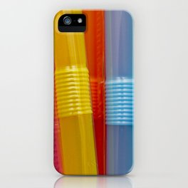Many coloful plastic straws. iPhone Case