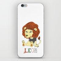 leon iPhone & iPod Skins featuring Leon by eva vasari