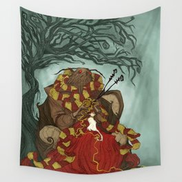 Creature Comforts: Mothman & his Cat Wall Tapestry