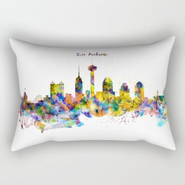 San Antonio Skyline Silhouette Rectangular Pillow