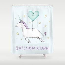 Balloonicorn Shower Curtain