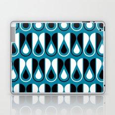 deep blue loop pattern Laptop & iPad Skin