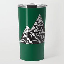 Tribal Mountains in Green Travel Mug