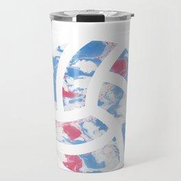Watercolor volleyball volleyballer gift Travel Mug