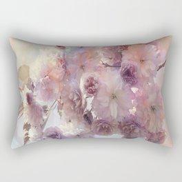 Vintage Beauty, Flower Blossoms Rectangular Pillow