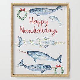 Happy Narwhalidays Serving Tray