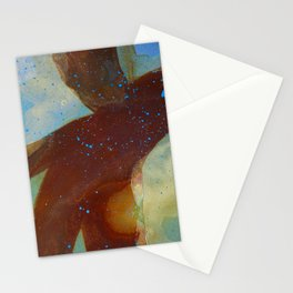 joelarmstrong_rust&gold_man Stationery Cards