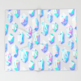 Iridescent Rainbow Crystals Throw Blanket