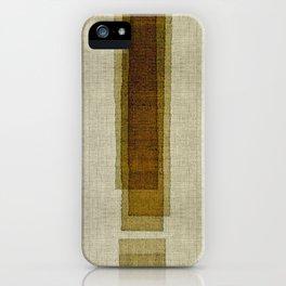 """Burlap Texture Greenery Columns"" iPhone Case"