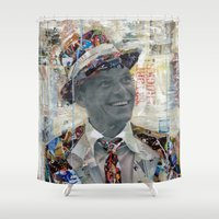 frank Shower Curtains featuring Frank by Katy Hirschfeld