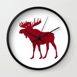 Moose: Rustic Red Wall Clock