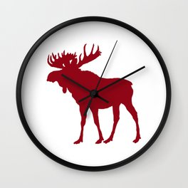 Moose: Rustic Red Wall Clock