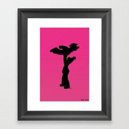 Roomie Dancing Framed Art Print
