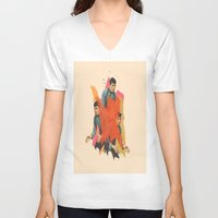 spock V-neck T-shirts featuring Spock by Iotara