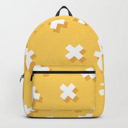 Modern Swiss Cross Yellow Backpack