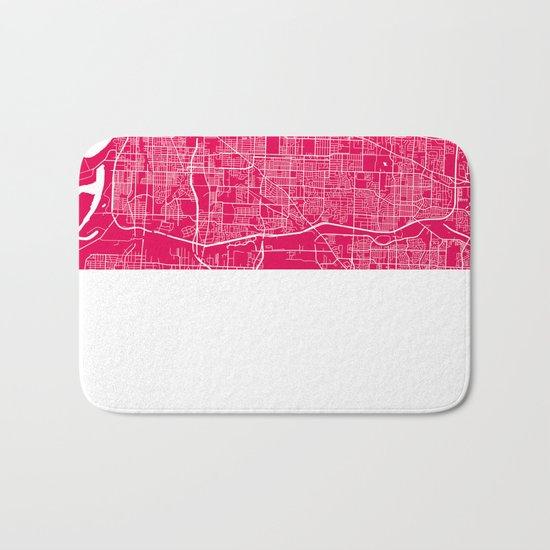 Memphis map rapsberry Bath Mat
