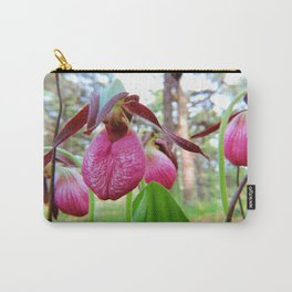 Lady Slipper Cluster Carry-All Pouch