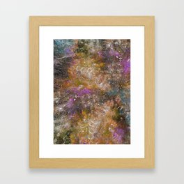 A galactic ocean -Orange- Cosmic Painting Art Framed Art Print