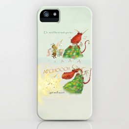 Get Well Soon- Poor Red Dragon  iPhone Case