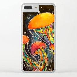 Rainbow Jellies Clear iPhone Case