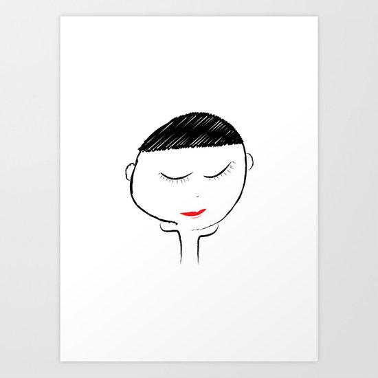 Mellow Girl Art Print