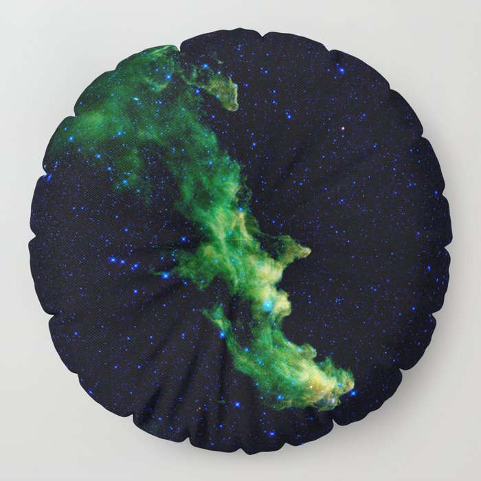 Galaxy: Green Witch's Head Nebula Floor Pillow