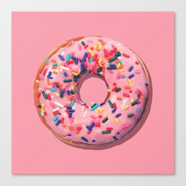 Pink Donut Canvas Print