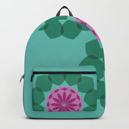 Aqua Water Lilies in the pond Backpack