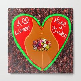 All Women Have a Garden 4 Metal Print