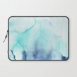Wanderlust Teal Blue Watercolor Laptop Sleeve