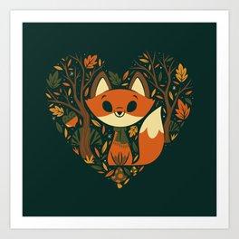 Foxy Heart Art Print