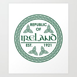 Republic of Ireland - EST. 1921 St.Patrick's Day Awesome Shirt Art Print
