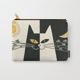 Vintage Black and White Cat Carry-All Pouch