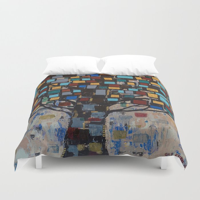 :: Stained Glass Tree :: Duvet Cover