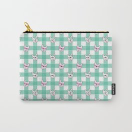 FRENCHIE PLAID Carry-All Pouch