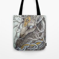 fantasy Tote Bags featuring In Memory, as a print by Caitlin Hackett